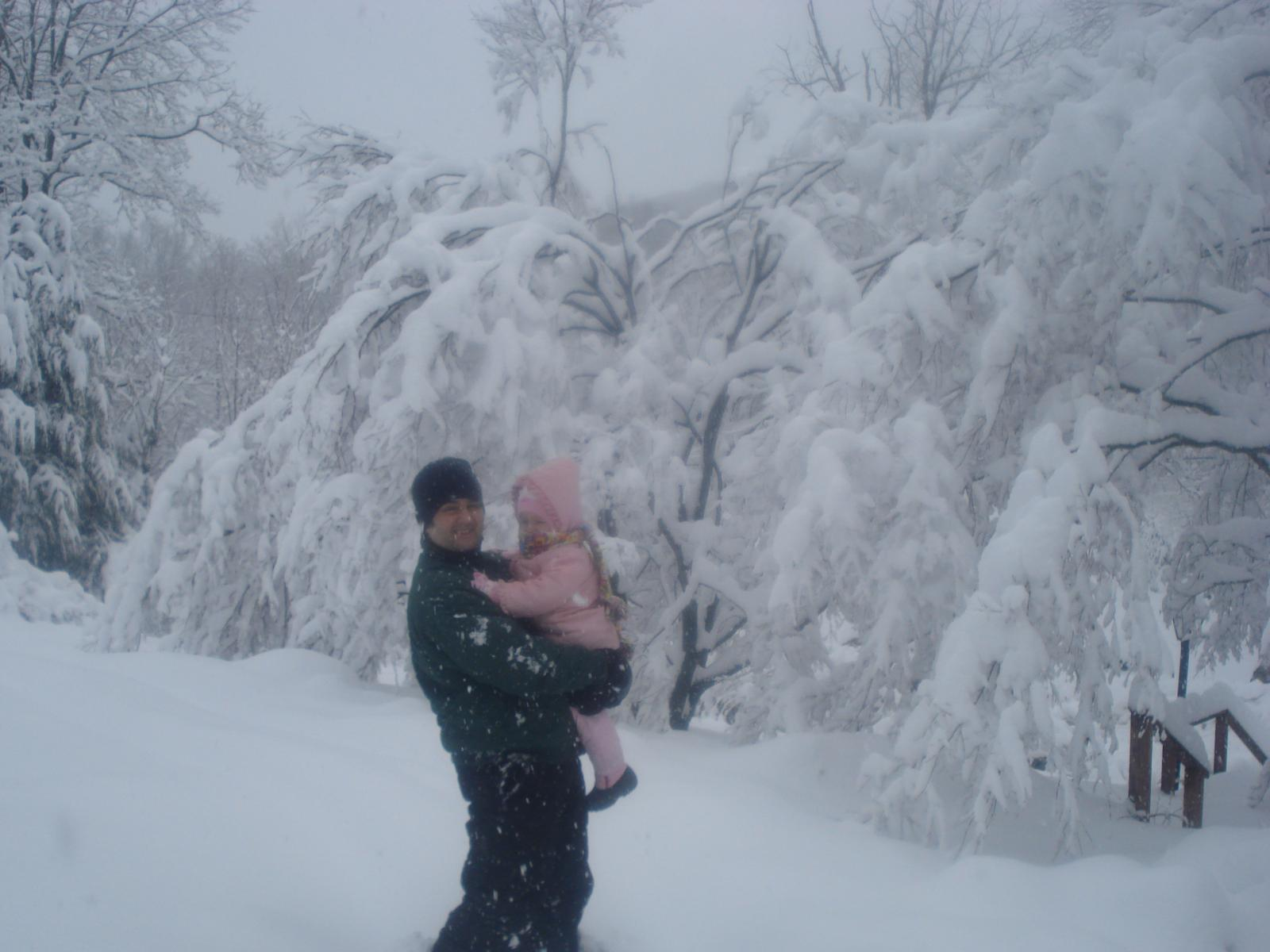 Snowstorm with my daughter