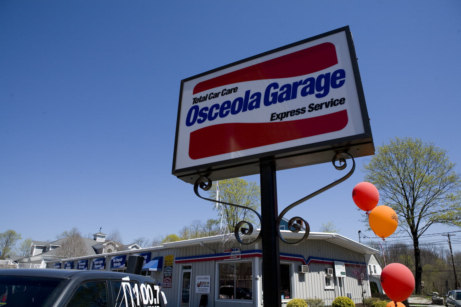 Osceola Garage Sign