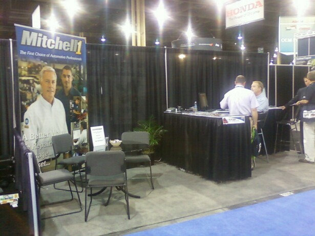 Mitchell1 Booth at NACE/CARS COnvention 2010