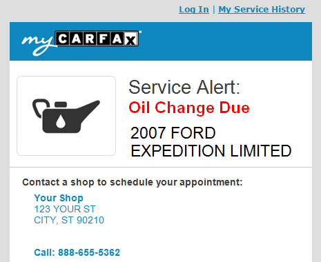Mycarfax Consumer App Updated With New Service Reminders